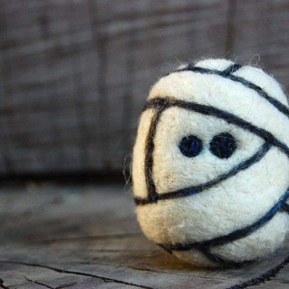 Mummy Egg Monster Wooly Made to Order by asherjasper on Etsy, $18.00