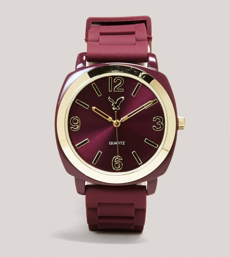 AEO Rubber Watch in Burgundy. Original price: $29.50 Price with Honey: $17.70  #HoneyFinds http://www.ae.com/web/browse/product.jsp?productId=0485_3450_126=cat5920086 (07/01/13)