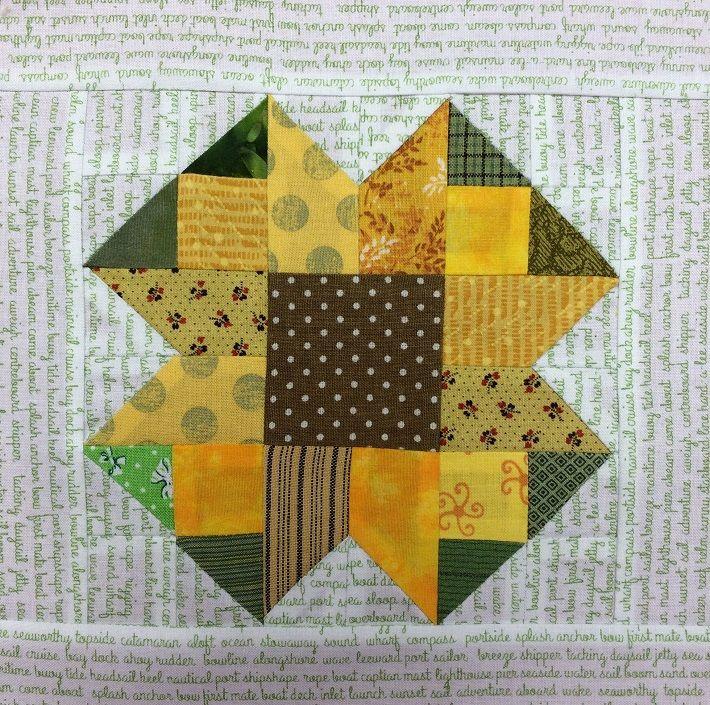 Sunflower Quilt Block Pattern Free On Craftsy