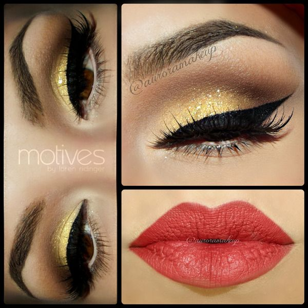 Glam+look+with+Bold+Eyeliner