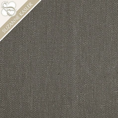 [CasaGiardino]  ♛  Suzanne Kasler Signature 13oz Linen Greige Fabric By The Yard