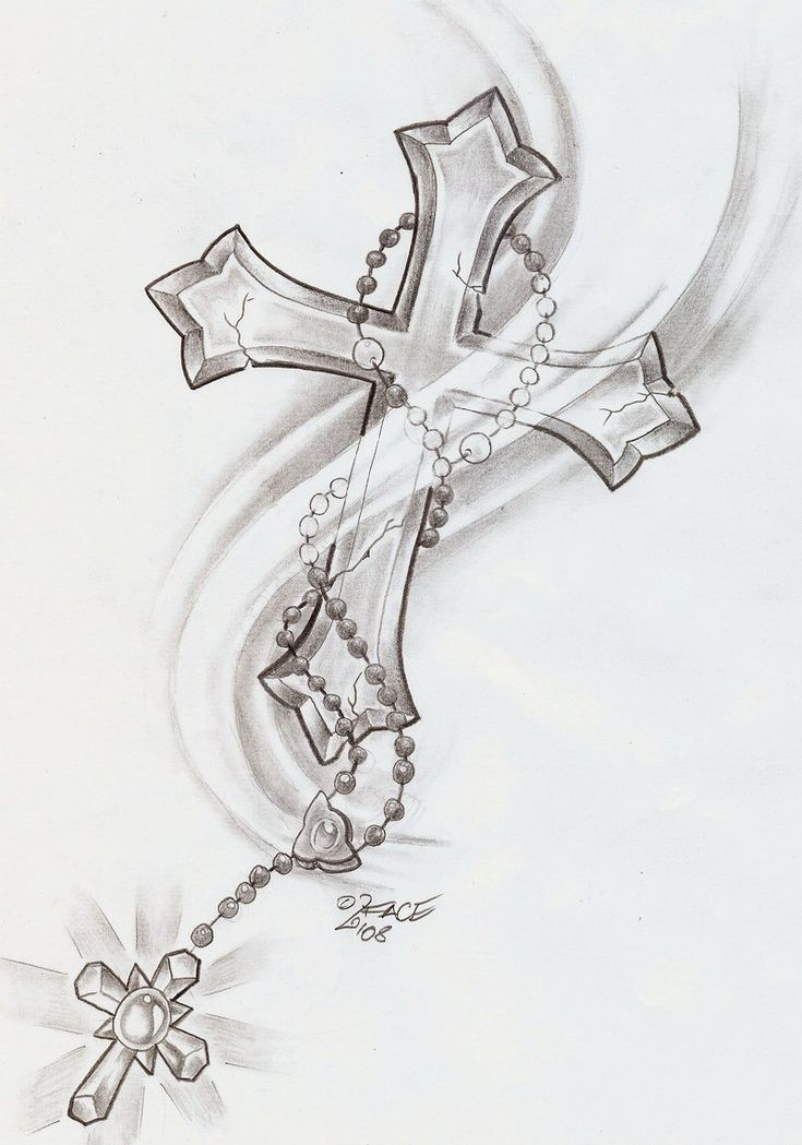 cruz+Rosary_Cross_Shine_Tattoo_by_2Face_Tattoo.jpg (800×1141)