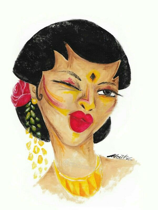 Javanese girl Acrylic on paper 2014
