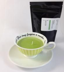 Teacup Candle. Lime & Coconut Infused.136  I am hand made with 100% SOY wax. My cup has been recycled / re-used / re-loved / re-newed / TEA-incarnated as a beautiful tea cup candle infused just for you. Included with me is a 50g bag of Tea