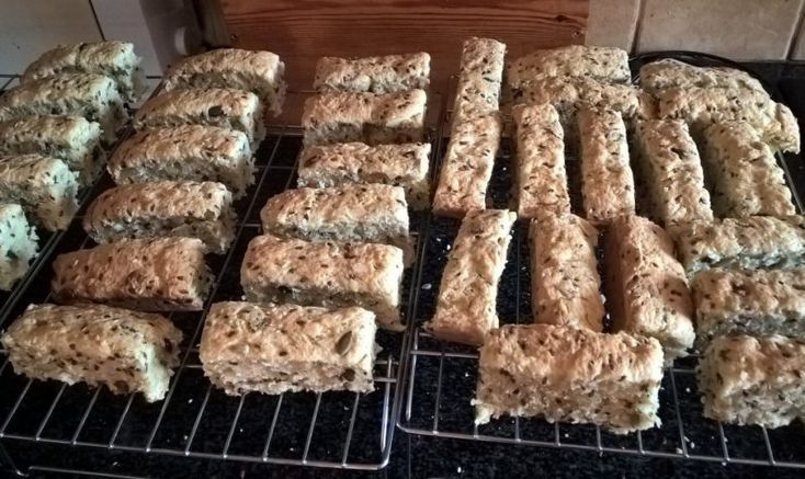 Ingredients 1 kg Eureka Mills Stone Ground Unbleached White Bread Flour 25 ml baking powder 250 ml brown sugar 250 g Pouyoukas Omega Seed mix (contains linseed, sunflower seeds, sesame seeds and pumpkin seeds) 100 g slivered almonds 375 g melted butter (the proper stuff not marga