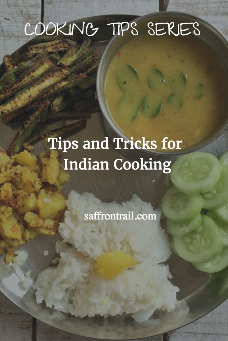 Tips And Tricks To Help You With Indian Cooking This Cooking Tips series is all about making cooking easier- right from buying and storing groceries / produce to kitchen hacks, time saving shortcuts and tips to make your life easier in the kitchen. This post rounds up some of the useful tricks to have up your sleeve for Indian cooking! [This list will be updated regularly, so do bookmark it for easy reference.] If you liked this post, also check out: