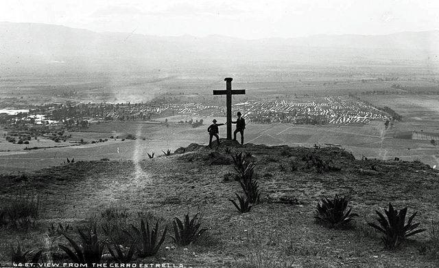 1880 VISTA DESDE EL CERRO DE LA ESTRELLA. WILLIAM HENRY JACKSON. DETROIT PUBLISHING Co, LIBRARY OF CONGRESS_edited. La Ciudad de México en el Tiempo.