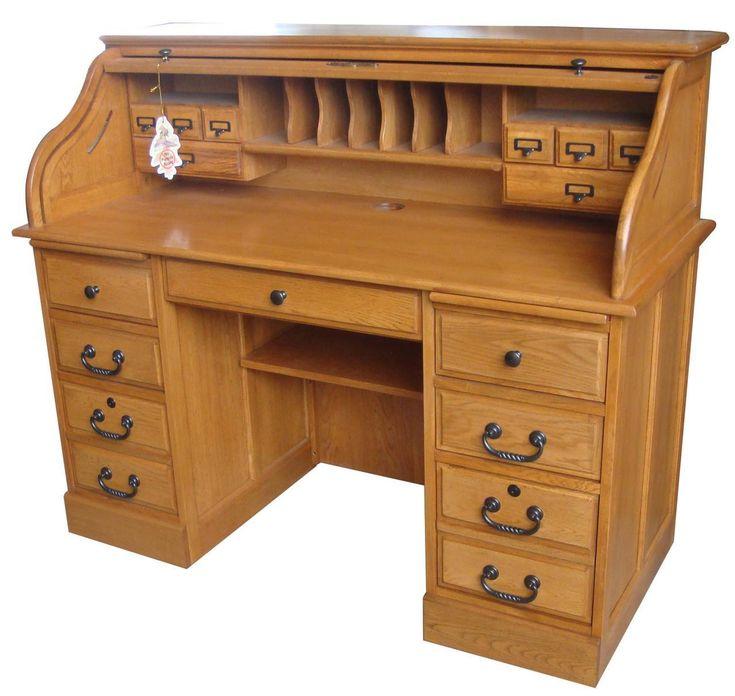 Pin On Roll Top Desks Solid Wood Home Office Desks