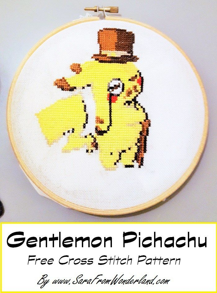 Pokemon cross stitch. Classiest Pokémon you have ever seen.