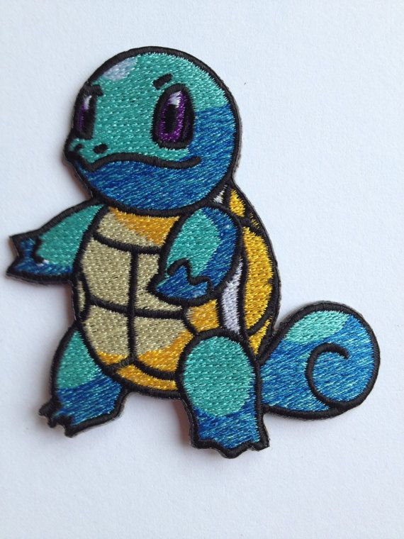 Pokemon Squirtle Iron on Patch / 3.5 Embroidered by PatchWorld, €5.00