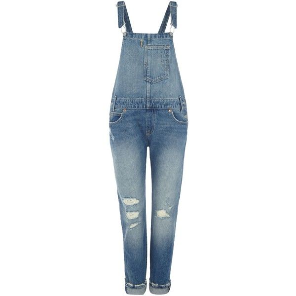 Levi's Overalls long dungarees in overlook found on Polyvore featuring jumpsuits, jeans, overalls, dungarees, jumpsuit, pants, denim mid wash, women, overall and blue overalls