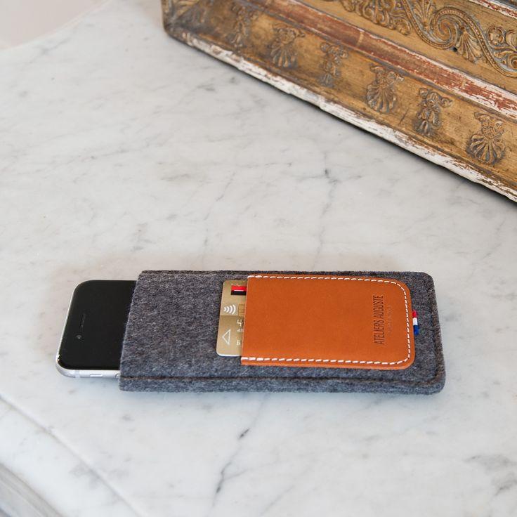 Housse Iphone et Porte-carte - Les raffineurs - 40€