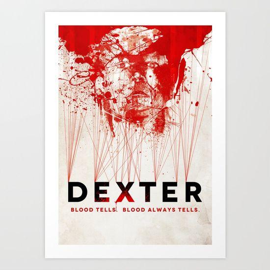 Dexter, blood, splatter, poster, TV, illustration