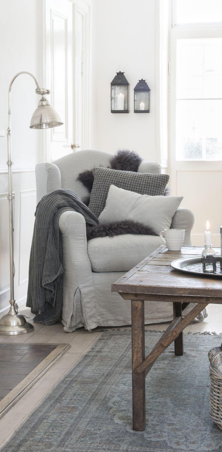 White Cozy Living Room