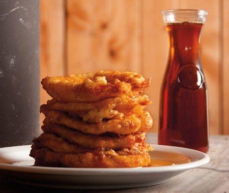 Quebecois Pancakes Recipe |from Sugar Shack Au Pied de Cochon cookbook | House & Home: Pancakes Recipe, Awesome Foodies, Martin Picard, Quebecoi Pancakes, Pancake Recipes, Sugar Shack, Food Recipe, The Pies, Pig