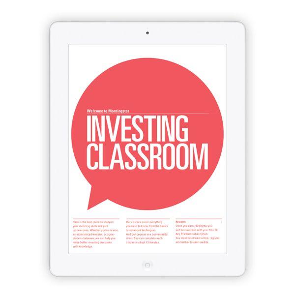 Morningstar Investing Classroom by Pouya Ahmadi, via Behance