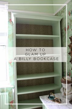 Swoon Worthy: Dressing Room Mini-Makeover: My Ikea Billy Bookcase Hack!