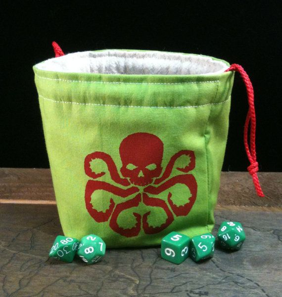 A Hydra dice bag, inspired by the latest Marvel movies!