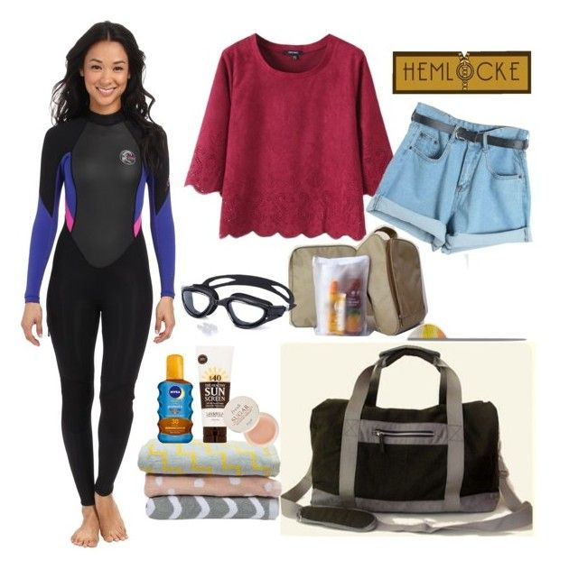 """Hemlocke for Swimming"" by hemlocke on Polyvore featuring O'Neill, Havaianas, Chicnova Fashion, Dusen Dusen, Lavanila, Nivea and Fresh"