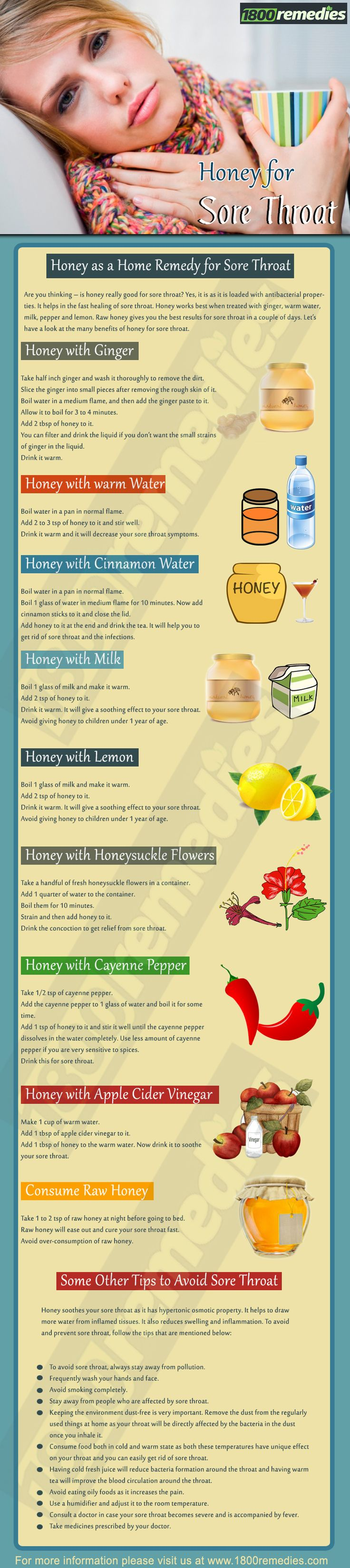 Are you thinking – is honey really good for sore throat? Yes, it is as it is loaded with antibacterial properties. It helps in the fast healing of sore throat