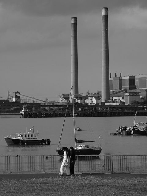 The river Thames at Gravesend