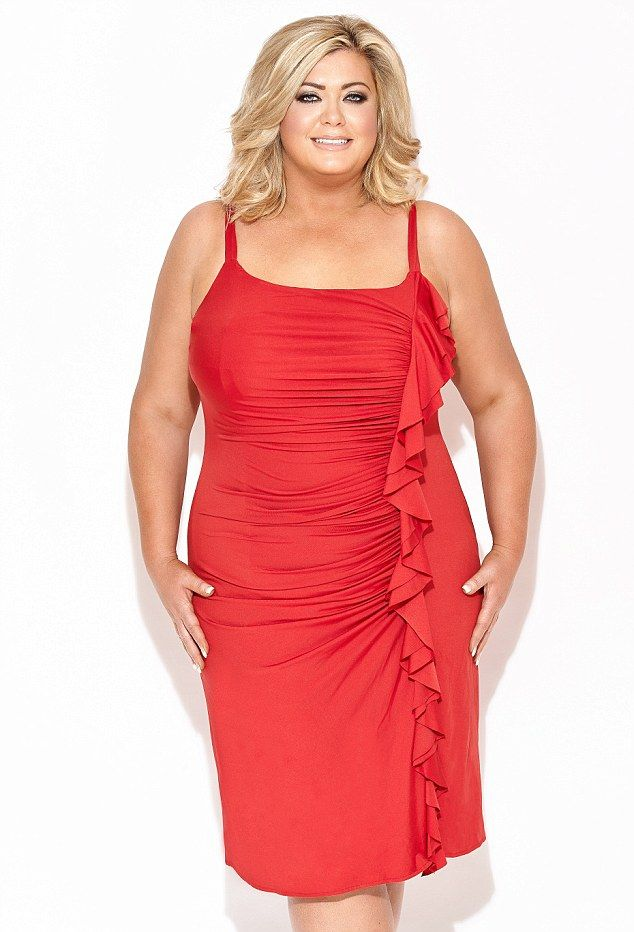 Red hot! Gemma Collins showcases her new range of fun and flirty dresses perfect for Valentine's Day (Sorrento Red £65)