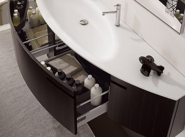 Cocoa High Gloss Lacquer For Modern Bathroom