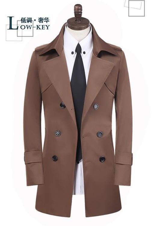 Men's clothing spring autumn plus size double breasted coats medium-long trench coat men teenage mens overcoat casaco masculino