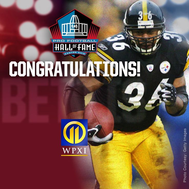 Jerome Bettis elected into the Pro Football Hall of Fame 2015 - a long overdue congrats to a great Steeler running back !