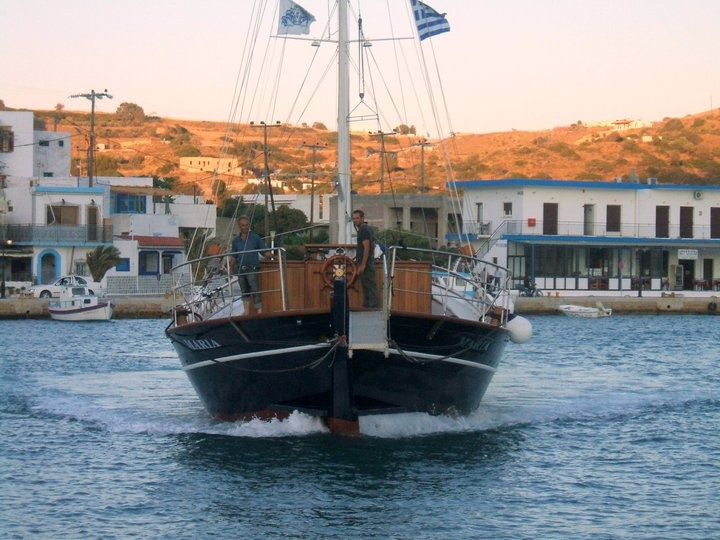 Greek boat, lipsi, Greece