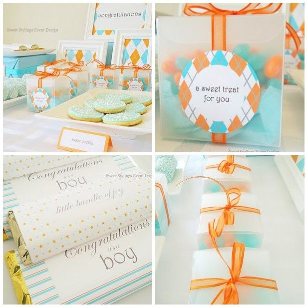 baby shower candy buffet, baby shower decorations, baby shower favors
