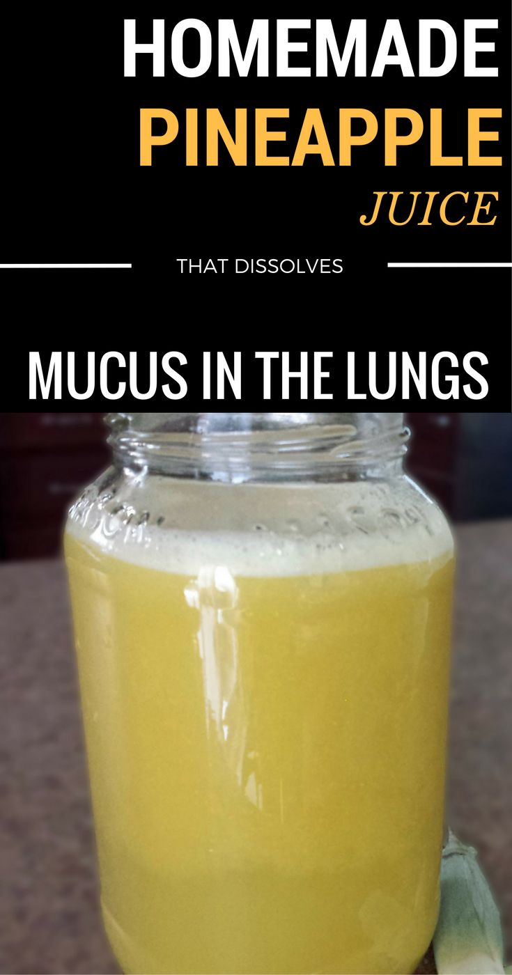 Homemade Pineapple Juice That Dissolves Mucus In The Lungs