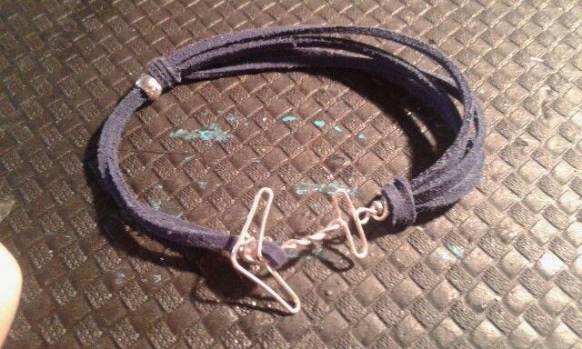 Bracciale uomo con ancora wire