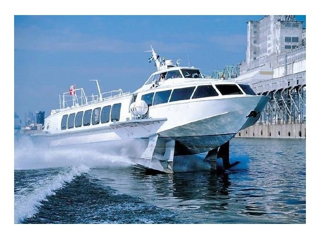 Hydrofoil from Budapest to Vienna along the Danube