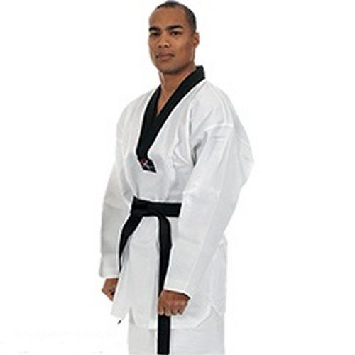 Beginner's Light Weight - w/Black V-Neck Taekwondo Uniform