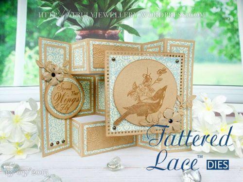 Tattered Lace dies - Shutter Card die