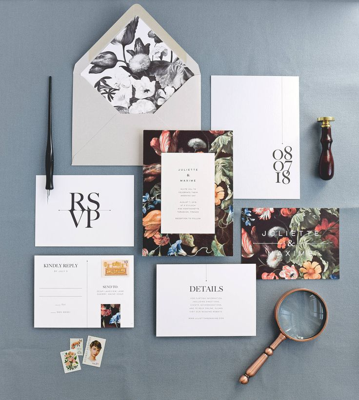 Featuring vintage botanical etchings combined with minimal, elegant text, this wedding invitation suite mixes classical themes and modern style for a refreshingly bold look. The perfect invitation to set the tone for a European-inspired, countryside wedding. - - - - - > This