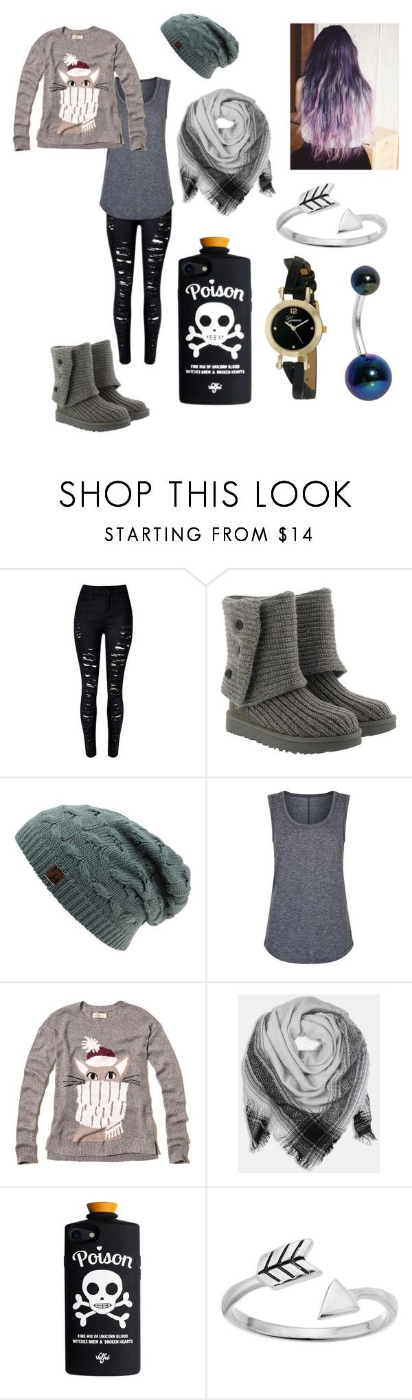 """Untitled #197"" by bunnycorn ❤ liked on Polyvore featuring UGG, Elie Tahari, Hollister Co., BeckSöndergaard, Primrose and Geneva"