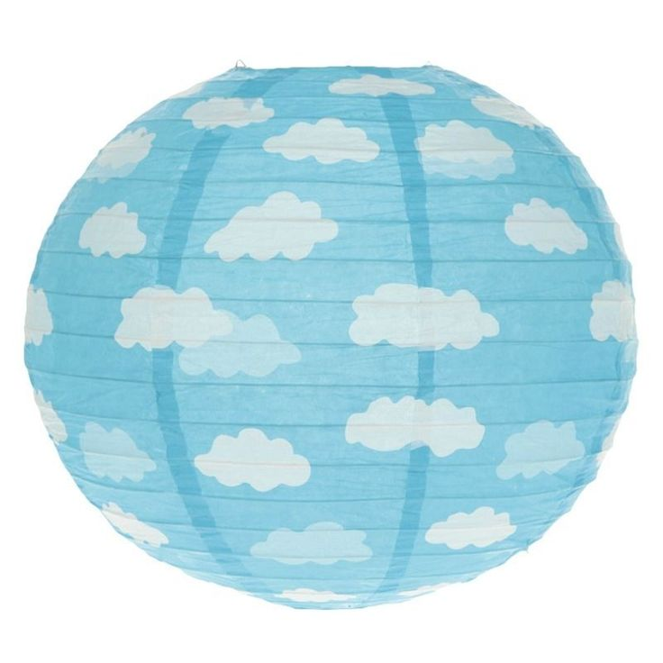 Suspension boule japonaise nuage lampe lampion papier for Suspension boule