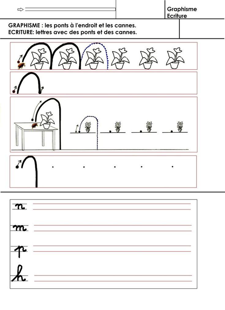 alfabeto, la grafica, la scrittura: ponti e bastoni da passeggio - scuola materna Gellow