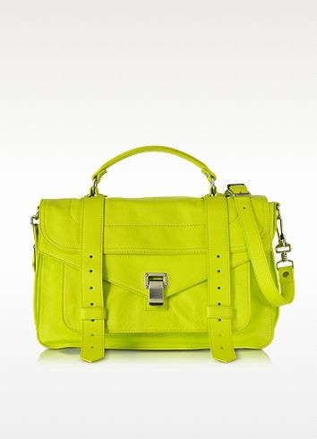 PS1 Medium Sulphur Lux Leather Satchel Bag - Proenza Schouler