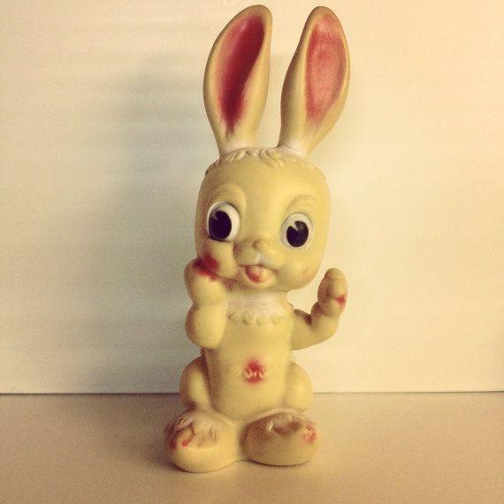 Toy Rubber - 1960 - Vintage Rabbit by Ledra Plastics, Italy