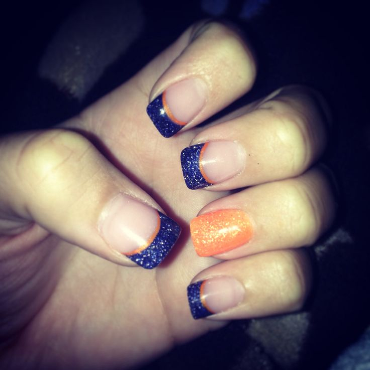 Game day nails. Go Gators