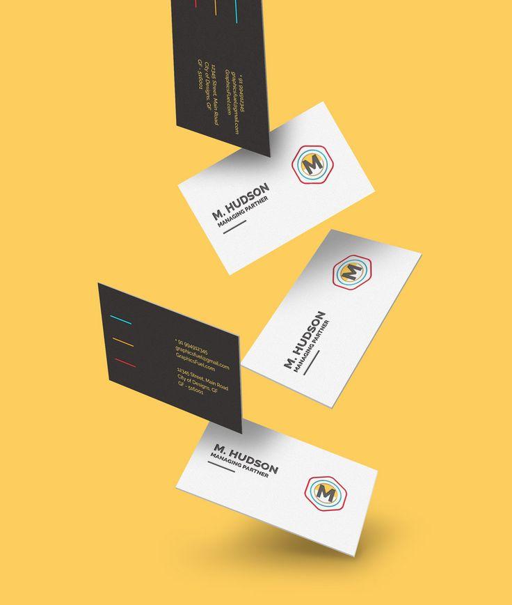 Free Falling Business Card Mockups (13.7 MB) | graphicsfuel.com