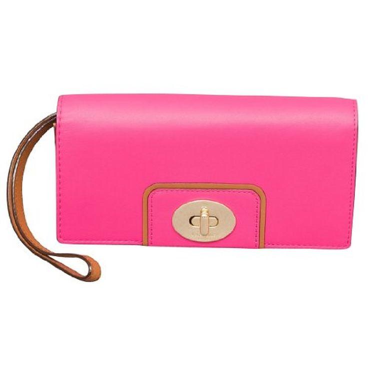 Kate Spade Hampton Road Turnlock Mara Wristlet Wallet in Stunning Pink