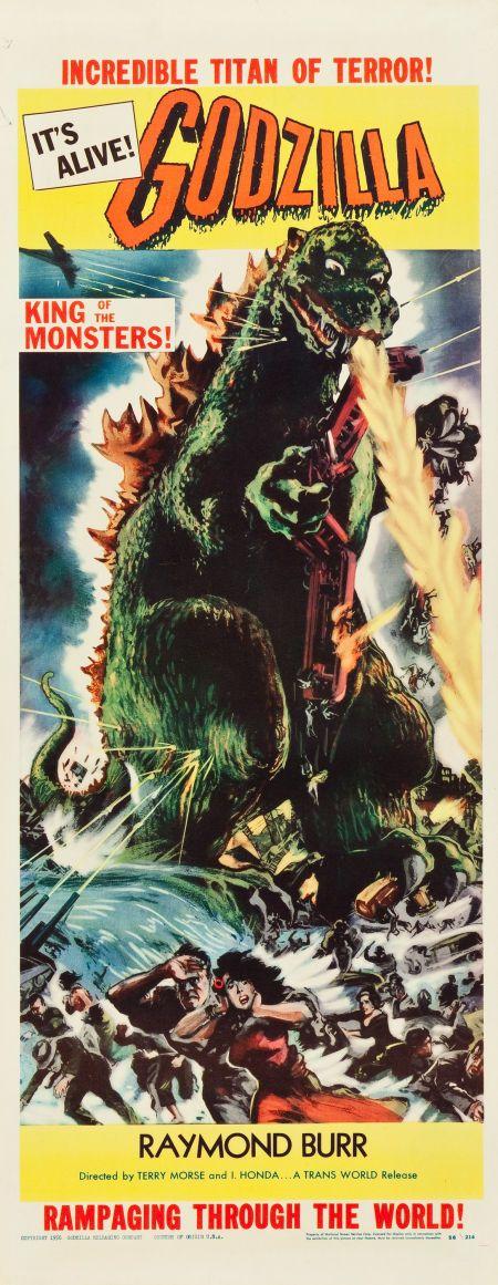 """Godzilla (Trans World, 1956). Insert (14"""" X 36"""")."""