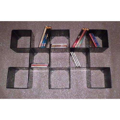 LIBRERIA porta CD DVD Design Ferro . Realizzazioni Personalizzate . 901