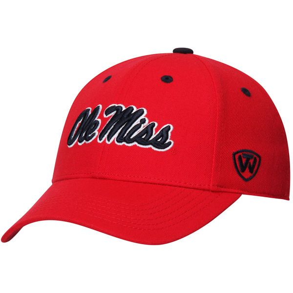 Ole Miss Rebels Top of the World Dynasty Memory Fit Fitted Hat - Red - $27.99