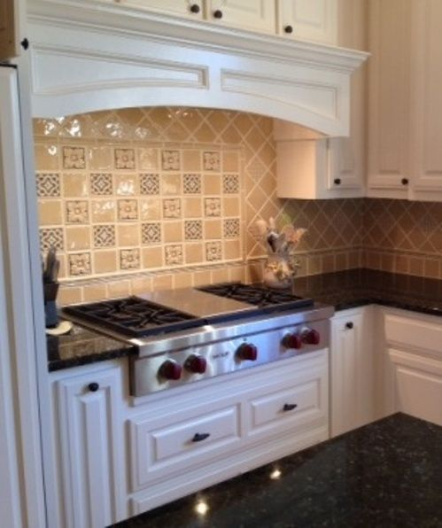 X Tile Kitchen Backsplash