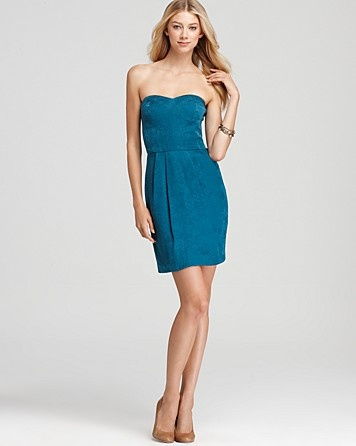 Rebecca Taylor Silk Strapless Dress | Bloomingdale's